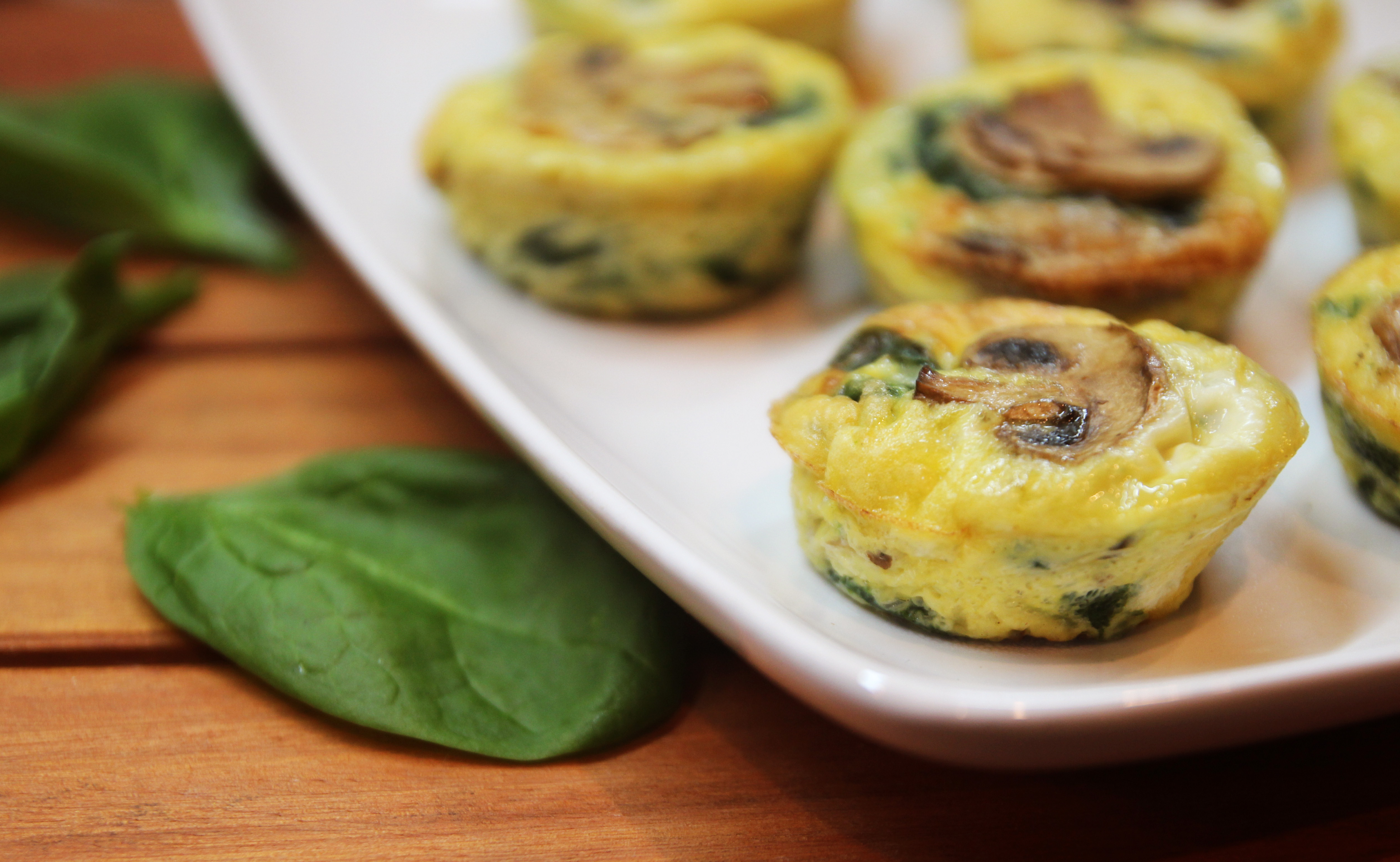 Mushroom Spinach Quiche Cups10