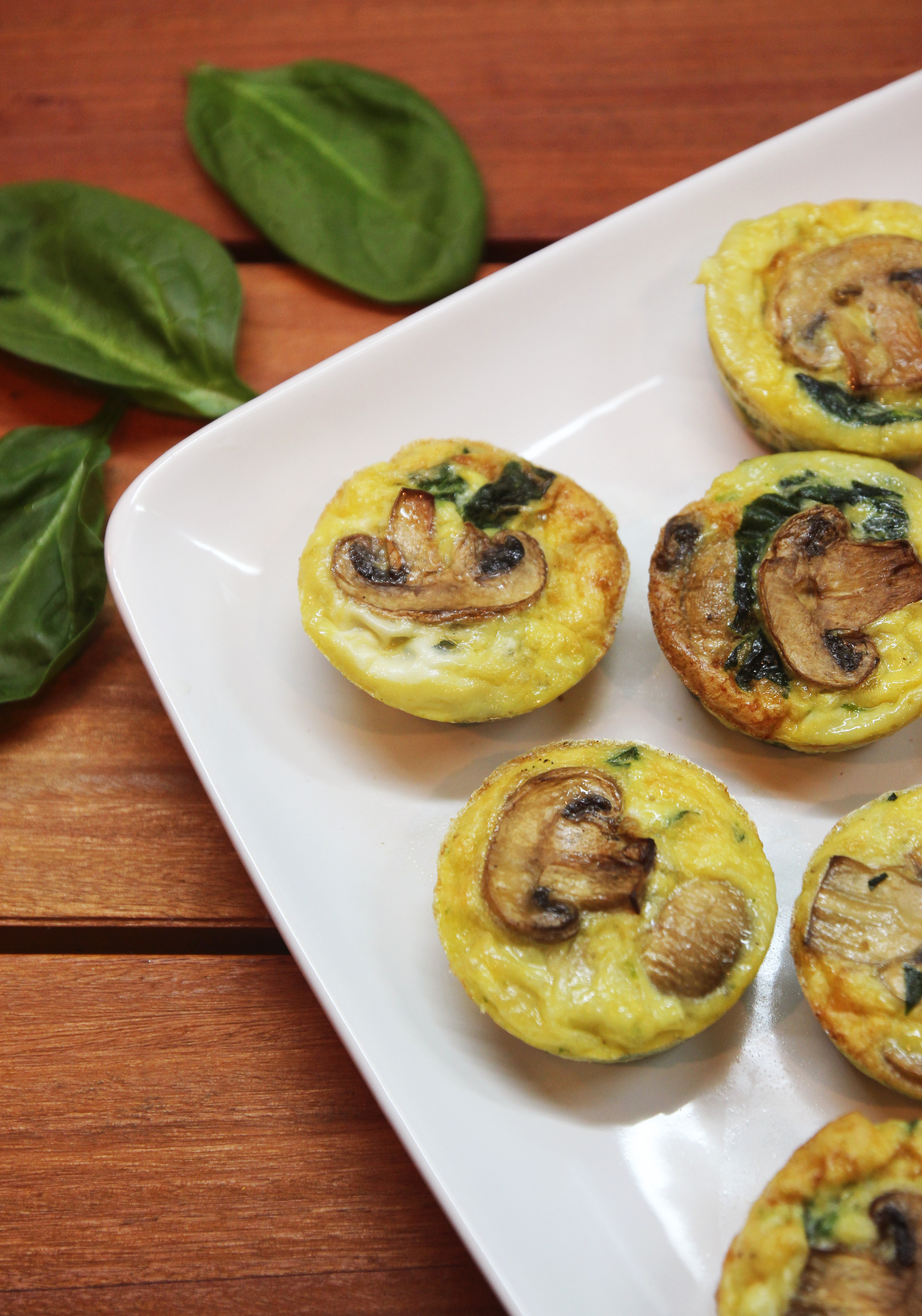 Mushroom Spinach Quiche Cups7