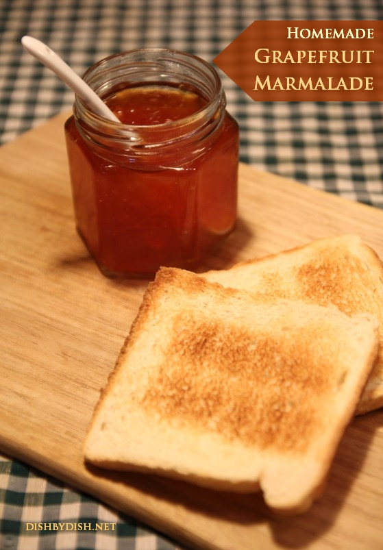 Homemade Grapefruit Marmalade