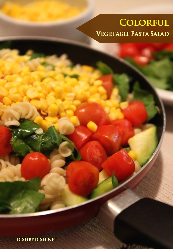 Colorful Vegetable Pasta Salad
